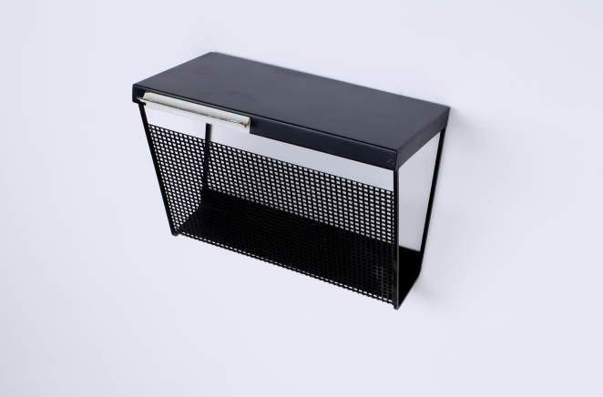 pilastro-wall-console-phone-black-white-perforated-shelf-metal-tjerk-reijenga-rare-parts-industrial-furniture-dutch-design-tomado-mategot-midcentury-shelves-colors-2