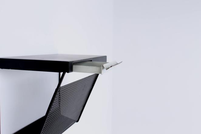 pilastro-wall-console-phone-black-white-perforated-shelf-metal-tjerk-reijenga-rare-parts-industrial-furniture-dutch-design-tomado-mategot-midcentury-shelves-colors-3