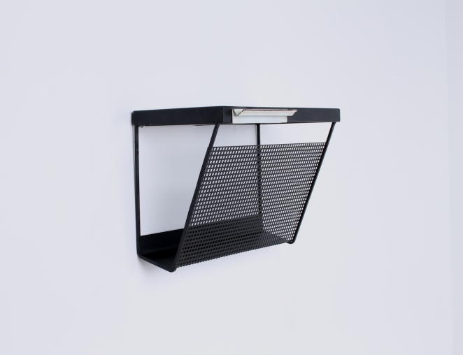 pilastro-wall-console-phone-black-white-perforated-shelf-metal-tjerk-reijenga-rare-parts-industrial-furniture-dutch-design-tomado-mategot-midcentury-shelves-colors-6