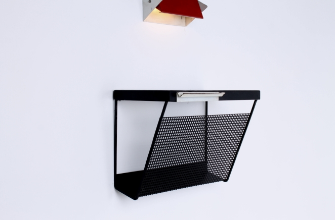 pilastro-wall-console-phone-black-white-perforated-shelf-metal-tjerk-reijenga-rare-parts-industrial-furniture-dutch-design-tomado-mategot-midcentury-shelves-colors-7
