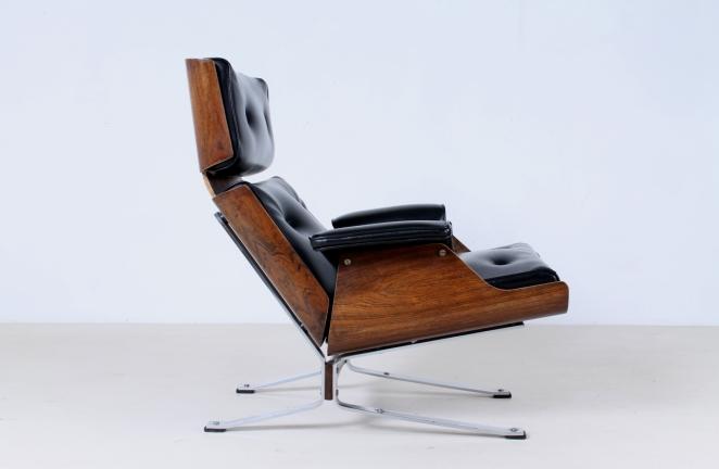 sixties furniture design. exellent design plywoodrosewoodloungechairvintageblackchromemidcentury intended sixties furniture design