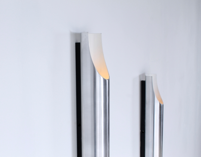 raak-fugue-wall-lighting-lights-pair-big-large-xl-edition by-1970-design-maija-liisa-komulainen-design-holland-amsterdam-vintage-pipes-aluminium-2