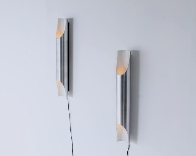 raak-fugue-wall-lighting-lights-pair-big-large-xl-edition by-1970-design-maija-liisa-komulainen-design-holland-amsterdam-vintage-pipes-aluminium-3