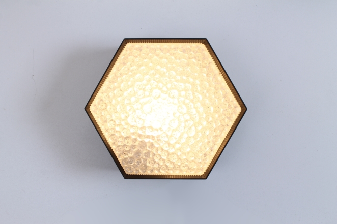 raak-hexagon-black-bubble-glass-ceiling-lights-set-vintage-lighting-dutch-design-stilnovo-style-geometric-shape-1