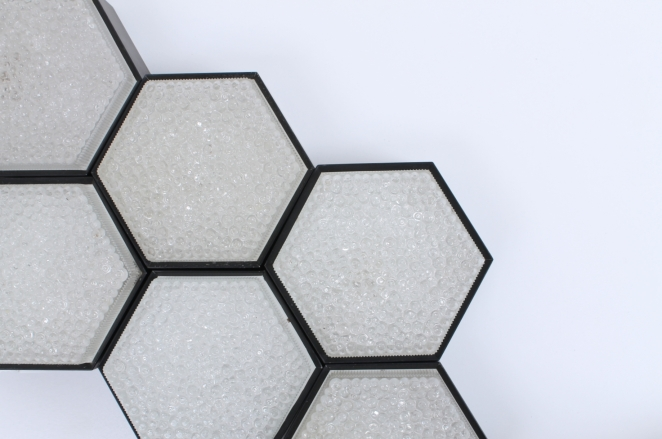 raak-hexagon-black-bubble-glass-ceiling-lights-set-vintage-lighting-dutch-design-stilnovo-style-geometric-shape-4