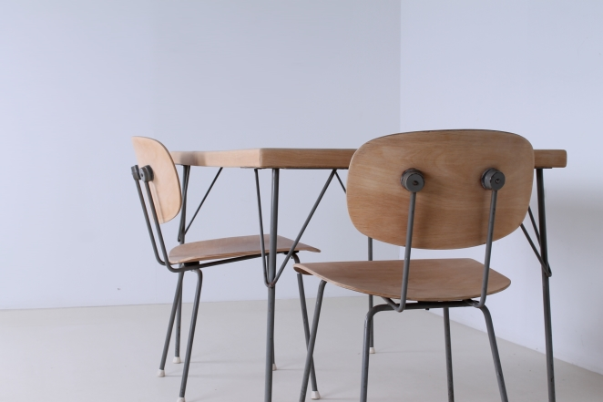 rietveld-gispen-model-116-chair-table-3705-1953-linoleum-birch-berken-bureel-vintage-wood-dutch-vintage-cencity-5
