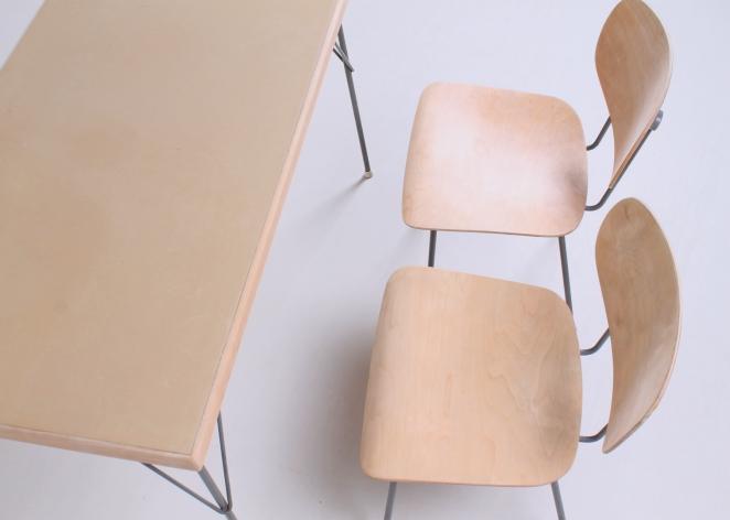 rietveld-gispen-model-116-chair-table-3705-1953-linoleum-birch-berken-bureel-vintage-wood-dutch-vintage-cencity-6