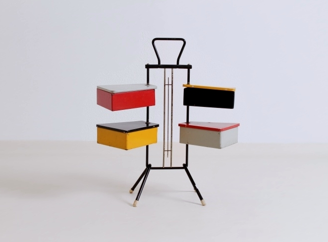 sewing-stand-vintage-red-yellow-cees-braakman-era-fifties-joost-teders-metalux-fifties-mid-century-storage-colored-rietveld-colors-4