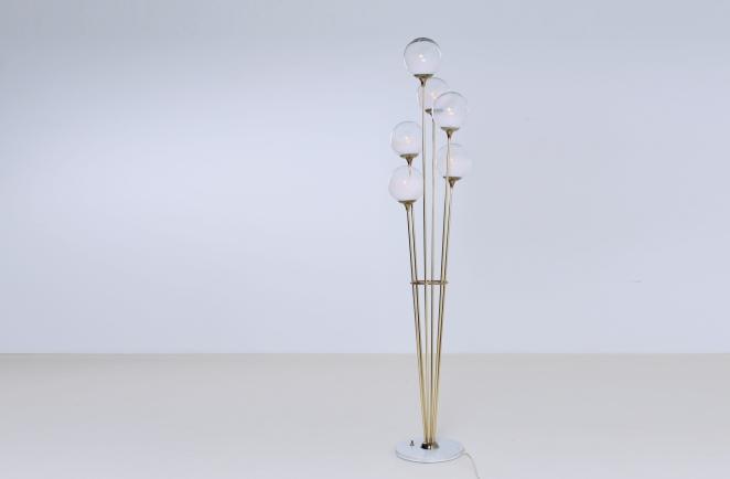 stilnovo-brass-copper-italy-glass-floor-light-6-bulbs-fifties-vintage-lighting-stems-floral-1