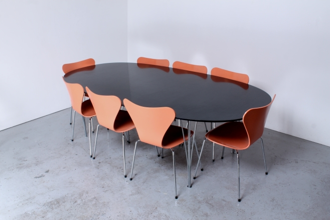 Fritz Hansen Superellipse Oval 8 Seater Conference Table