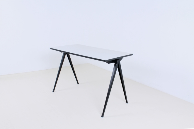 table-white-galvanitas-pyramid-compas-prouve-style-rietveld-ahrend-fifties-design-dutch-compass-industrial-1