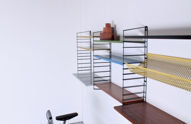 tomado-afro-teak-metal-colors-special-parts-desk-shelves-complete-mixed-unit-dekker-genuin-vintage-dutch-design-bookshelves-shelving-1