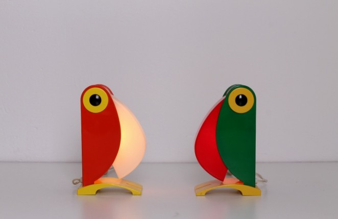 Toucan Lamps Italy 1960ies
