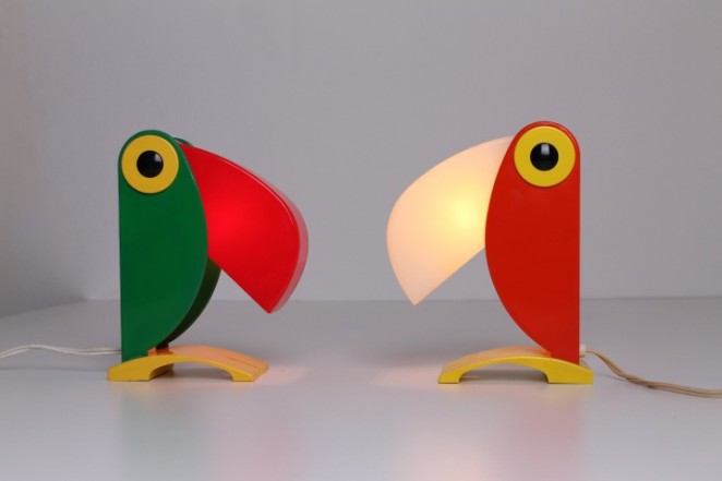 Toucan lamps, Italy 1960ies
