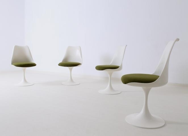 Pastoe tulip chairs 1960ies vintage design