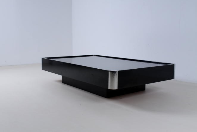 willy-rizzo-black-rectangular-coffee-table-chrome-sabot-italian-glamour-style-seventies-plastic-2