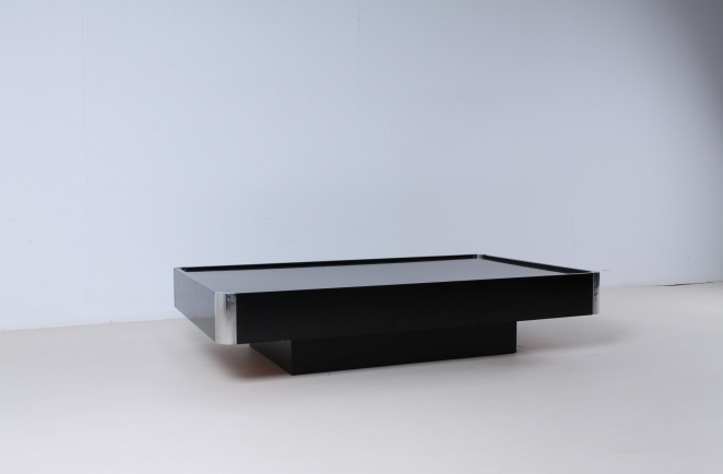 willy-rizzo-black-rectangular-coffee-table-chrome-sabot-italian-glamour-style-seventies-plastic-3